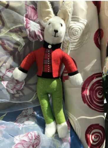Antique vintage Rabbit Plush And Felt With Glass Eyes