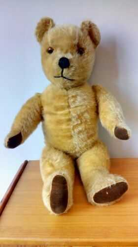 Vintage 20 Inch English Jointed Mohair Teddy Bear