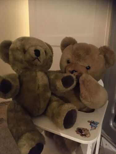 VINTAGE GOLDEN BEAR PEDIGREE TING A LING TEDDY Not Working!RARE BIG TED GROWLER