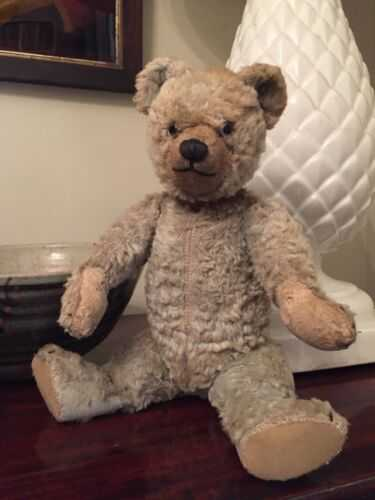 Old Vintage Antique Farnell Teddy Bear c1920s (Blue)