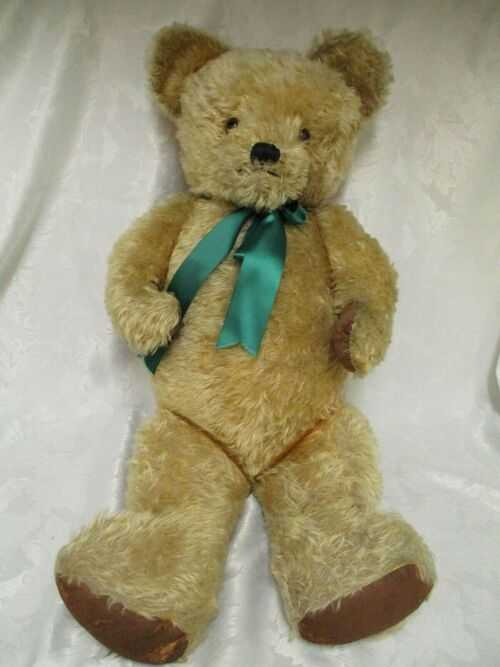 Vintage Antique Large Mohair Teddy Bear, Fully Jointed, 35