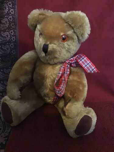 Beautiful Vintage Pedigree Jointed Teddy Bear, Mohair, Musical Box, Approx 36cm