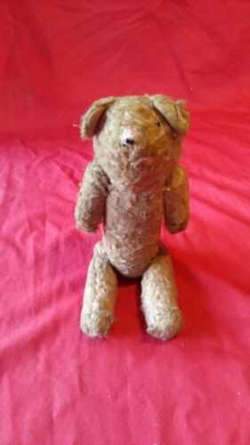 small vintage Jointed Teddy Bear 9.5