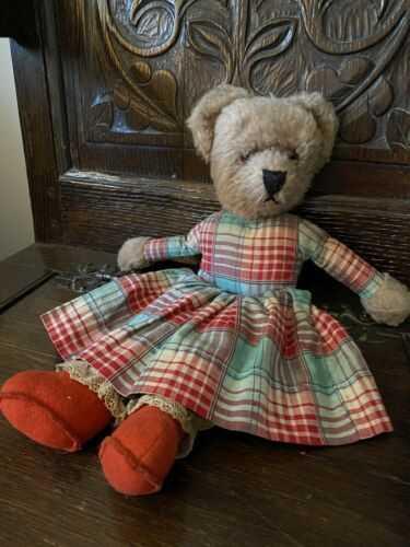 Antique Vintage Nightdress Teddy Bear 1910-1920. Good Condition.