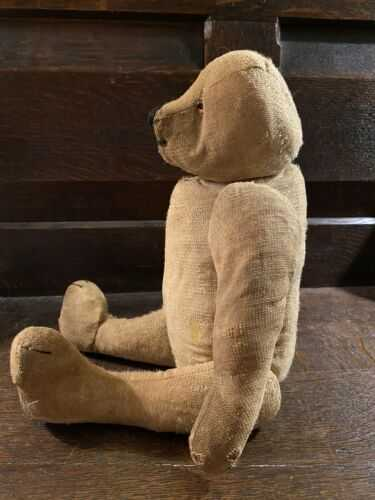 Antique Teddy Bear With Humpback. Some Age To Him.
