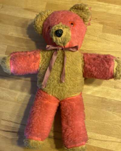 Vintage Pink Teddy Bear 1960s/1970s/1980s