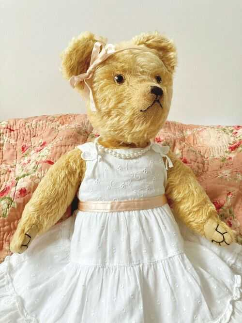 *April* 1930s WJ Terry 22 Teddy Bear Mohair Professionally Restored