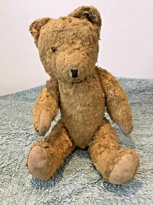 Teddy Bear Antique 1920/30'S Gorgeous Little Chap 33cm Height