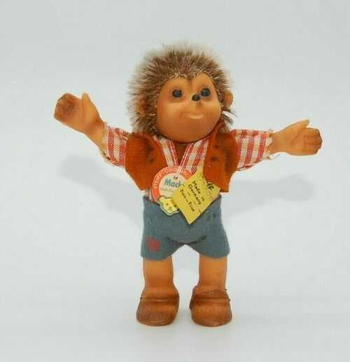 Vintage Fab Condition Steiff Macki Hedgehog~Button, Chest Tag and Label~Teddy Bear