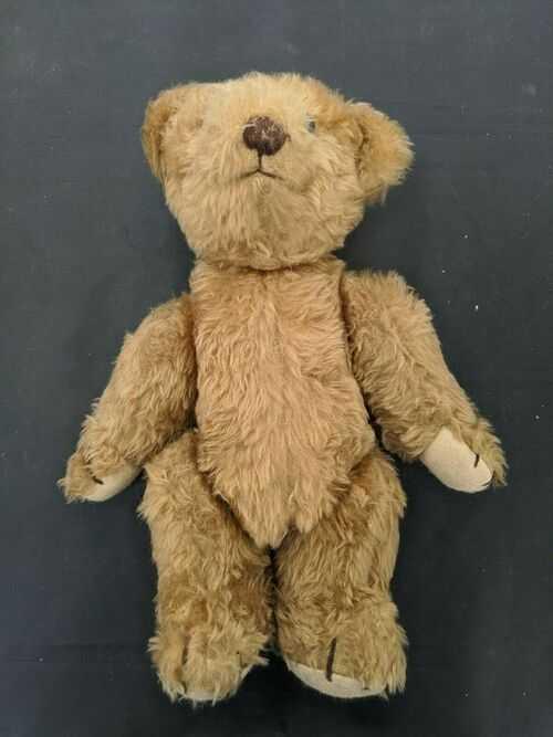 Vintage/Antique Plush Teddy Bear Felted Feet, Cotton Brown Nose #SH-SH4