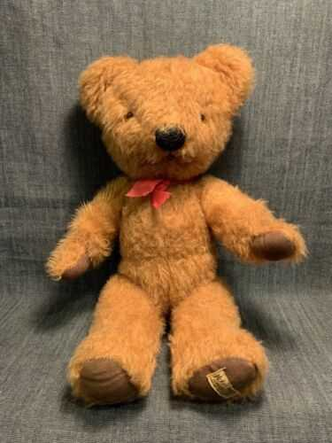 Vintage Teddy Bear Merrythought Ironbridge England ( House Clearence Find )