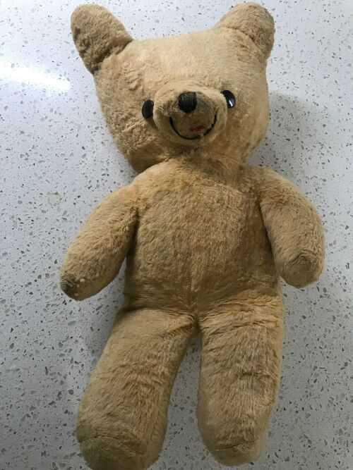 Vintage Teddy Bear 1960s 42cm height