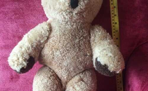 Vintage teddy bear antique 18 soft wool. Good condition.