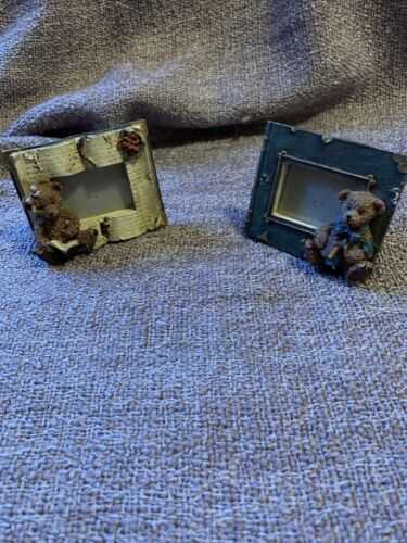 2 X Teddy Bear Picture Frames