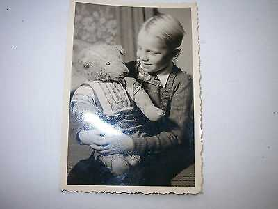 RARE-OLD PICTURE TEADDY BEAR