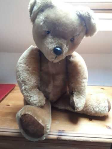 Barney, A Beautiful BIG Old Mohair Jointed Pedigree Bear, pre 1955